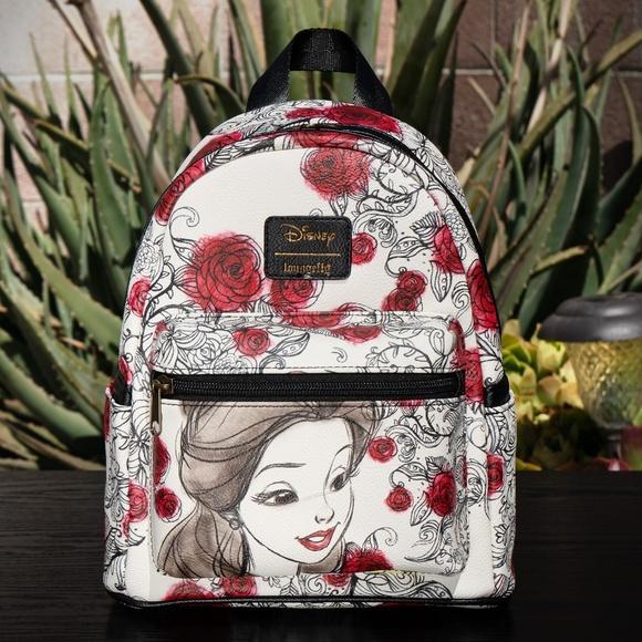 Loungefly Bags | Disney Belle Floral Rose Sketch Mini Bag | Poshmark